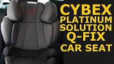 cybex platinum solution q fix car seat