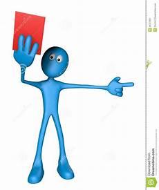 Strafe Rote El - rote karte stock abbildung bild komisch karte