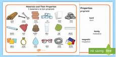materials and their properties word mat italian science material