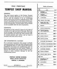 online auto repair manual 1961 pontiac tempest lane 1961 pontiac tempest shop manual gen information page 2 of 5