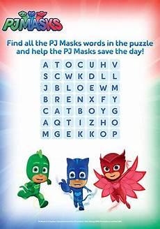 Pj Mask Malvorlagen Quotes Pj Masks Word Search Printable Bub Hub Pj Masks