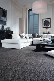 Black Carpet Living Room Ideas sophisticated black and white living room idea monochrome