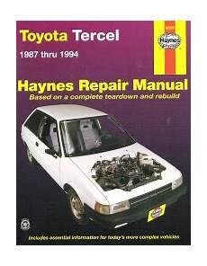 service repair manual free download 1993 toyota tercel engine control 1987 1994 toyota tercel haynes repair manual