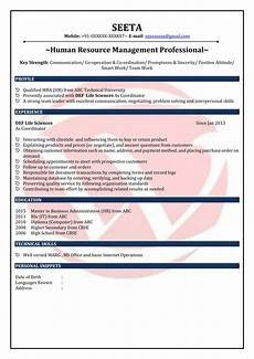 hr fresher sle resumes download resume format templates