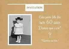 carte d invitation anniversaire qui est ce 60 ans popcarte