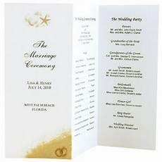Simple Wedding Program Ideas