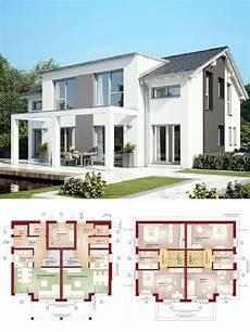 Moderne Doppelhäuser Grundrisse - stadtvilla als doppelhaus architektur modern mit