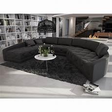 ausgefallene sofas rundsofa sofa ausgefallene form in kunstleder schwarz