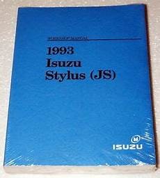 old car manuals online 1993 isuzu stylus user handbook 1993 isuzu stylus sedan original factory dealer shop service repair manual new ebay