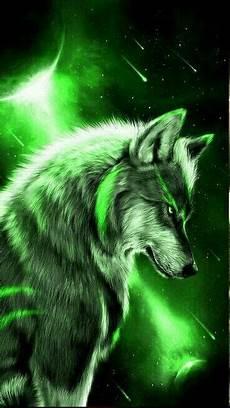 cool green wolf wallpaper green wolf papel de parede de lobo pinturas de animais