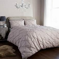 kissen set bett pintuck duvet cover set with pillow cases luxury