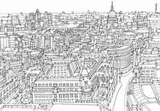 Malvorlagen New York Skyline Illustrated Maps City Drawing Map