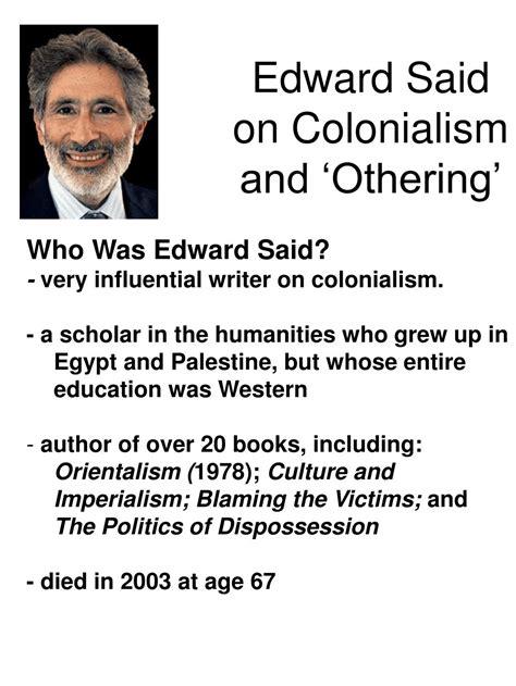 Edward Said Otherness