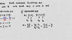 lineare funktionsgleichung rechnerisch bestimmen aus zwei