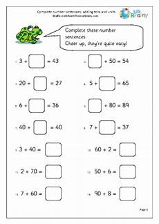 missing number worksheet new 313 missing number sentences