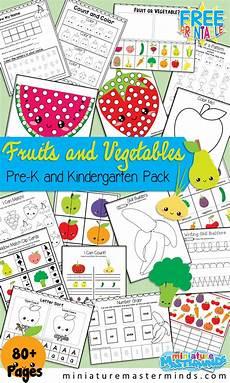 fruits and vegetables preschool and kindergarten printable activity miniature masterminds