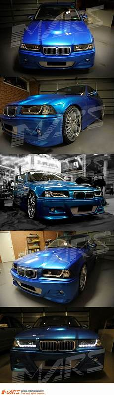 black drl led day time projector head lights for bmw e36 coupe sedan mars performance
