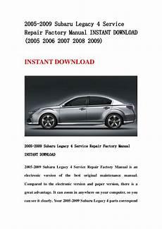 auto repair manual free download 2007 subaru legacy regenerative braking 2005 2009 subaru legacy 4 service repair factory manual instant downl