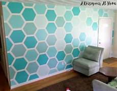 How To Paint Hexagon Patterned Wall Graphic Wall