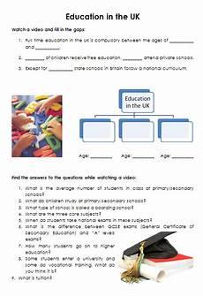 education in the uk video worksheet