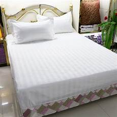 2019 120 200cm hotel bed sheets 100 cotton strips hotel room supplies pure white soft comfort