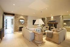 gorgeous pale chalky neutral living room with recessed