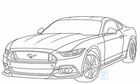 Mustang Car Drawing At GetDrawingscom  Free For Personal