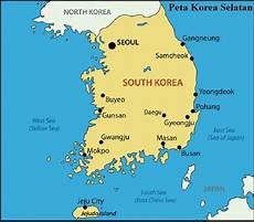 Peta Negara Korea Selatan Lengkap Gambar Dan Keterangannya