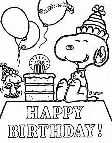 Ausmalbilder Snoopy Geburtstag Birthday Coloring Pages Free Printable Coloring Pages At