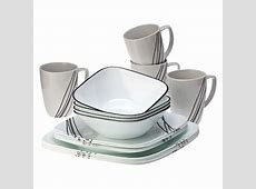 Corelle® Square 16pc Dinnerware Set Simple Sketch : Target