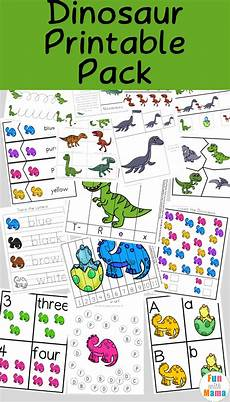 dinosaur preschool printable pack fun with mama