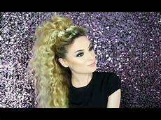 party hairstyle for curly hair youtube