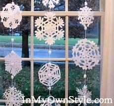 schneeflocken girlande basteln beautiful no sew snowflake garland 183 one thing by jillee