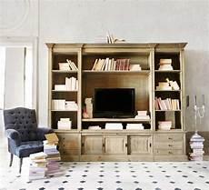 meuble en meuble tv bibliotheque en bois naturel