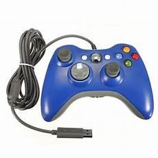 Manette Xbox 360 Filaire Bleue Non Officielle X360