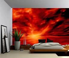 Rote Tapeten Wandgestaltung - warmth abstract large wall mural self adhesive vinyl