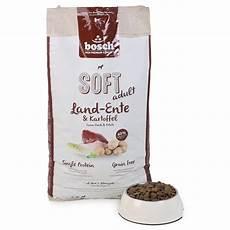 Bosch Hundefutter Getreidefrei - bosch soft hunde trockenfutter land ente kartoffel bei