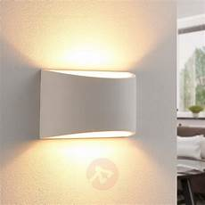 elegant led wall light heiko made from plaster lights ie