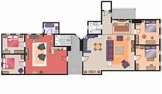 Sitcom Apartment Blueprints by Floor Plans Solution Conceptdraw