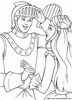 Ausmalbilder Prinzessin Und Ritter Coloriage De Princesse Et Prince Dessin Chevalier Avec