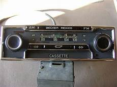 becker mexico stereo am fm car radio with cassette 12