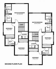 multi family house plans duplex second floor plan of contemporary multi family plan 96223