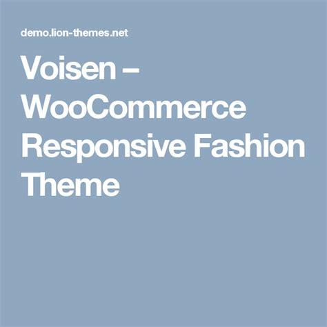 voisen woocommerce responsive fashion theme