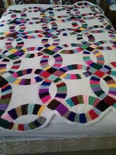 wedding ring crochet blanket quilt afghan hooked blankets crochet quilt pattern crochet
