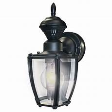 portfolio black motion activated outdoor wall light