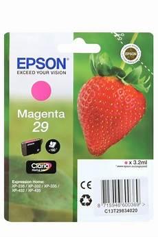 cartouche epson 29 fraise cartouches originales epson t2983 fraise pack ou unit 233