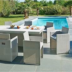 salon de jardin leroy merlin salon de jardin mediterran 233 e r 233 sine tress 233 e gris 1 table