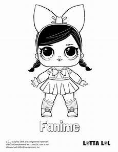 fanime lol doll coloring page lotta lol