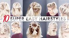10 easy half up hairstyles for short hair tutorial
