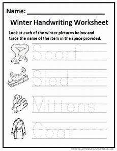 winter pre writing worksheets 20124 winter handwriting worksheet preschool and kindergarten preschool crafts